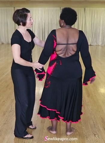 open back latin dress