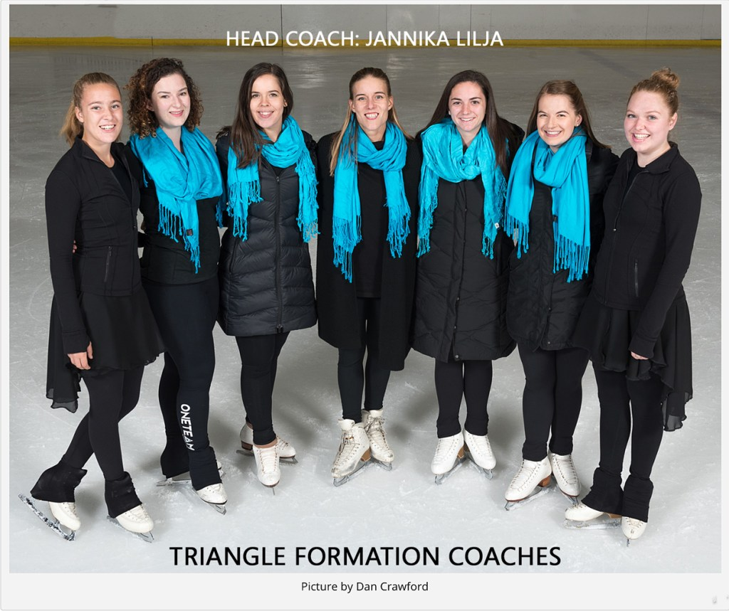 Jannika Lilja, synchro skate dress designer, head coach of Triangle Formation team, Durham NC, synchro skate dress designer