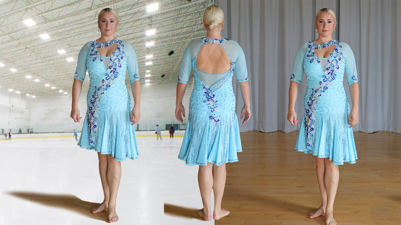 Ice skate dress or Latin dance dress?