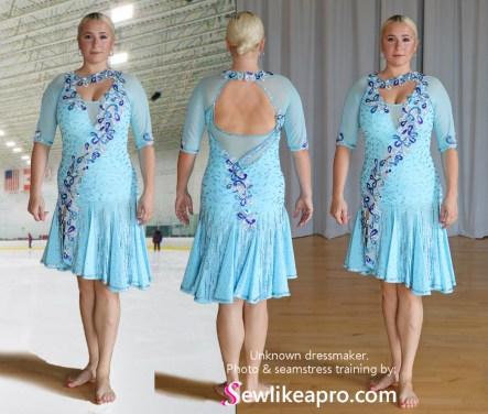 ice skate dress, latin dance dress, ice skate dress, latin dance dress, two-step dress