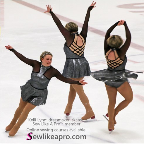 adult figure skating dress made by competitive skater and Sew Like A Pro™ member, Kelli Lynn Baker, bust support