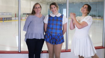 quick change ice skating costume, Tammy Jimenez dressmaker, Hairspray musical, Tracy Turnblad, I can hear the bells