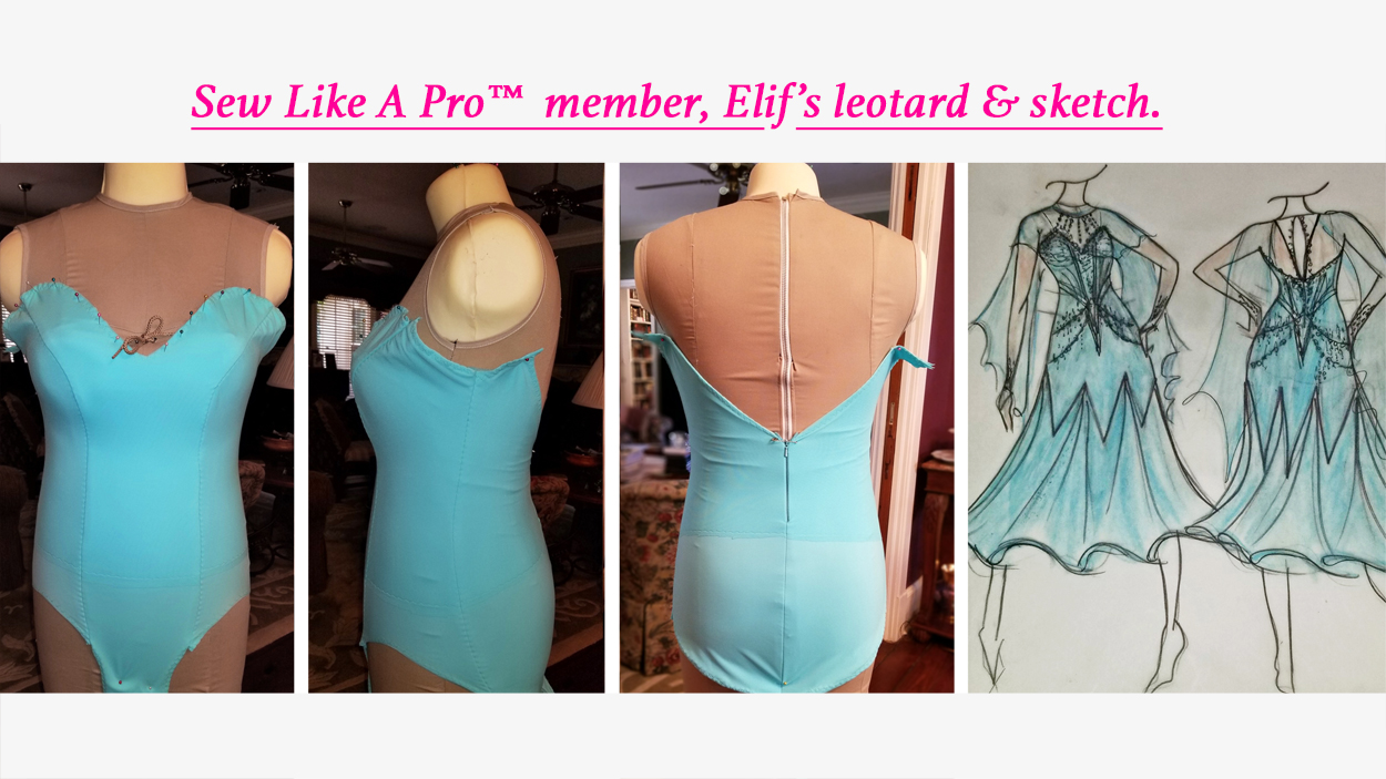 Sew Princess Seams To Help Sweetheart Neckline Leotard Fit Better