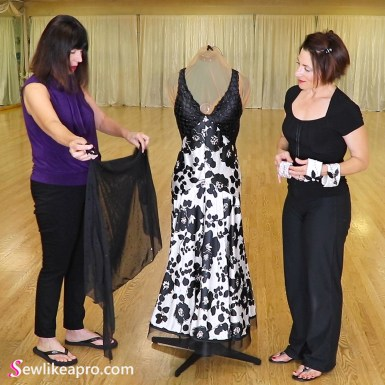 Vogue pattern ballroom dance dress, accessories 1