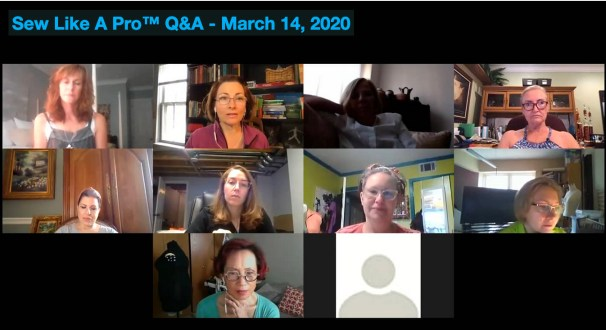 Sew Like A Pro live Q&A group image 3-14-2020