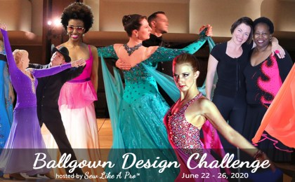 Ballgown Design Challenge dress design women compete Dancesport ballroom Country dance
