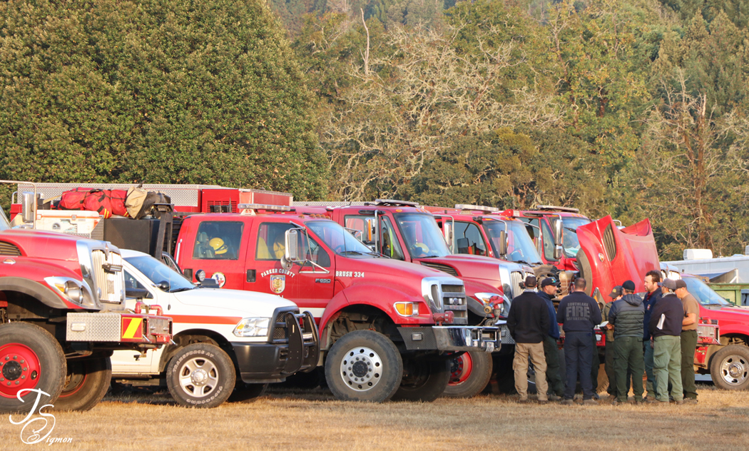 fire engines morning meeting, August Complex 2020 California image by Teresa Sigmon