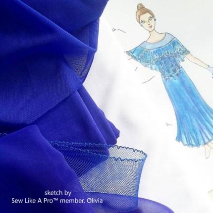 slp-member-olivia-dress-design-sketch-and-fabric-chrisanne-clover