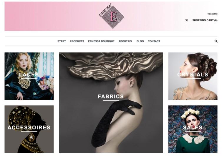 Ernessa Boutique fabric store in Austria