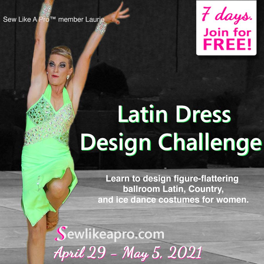 7-day latin dance dress design challenge May 2021
