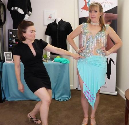 Latin dance skirt alterations, Teresa Sigmon, Duffy Betterton Dance Dress Couture