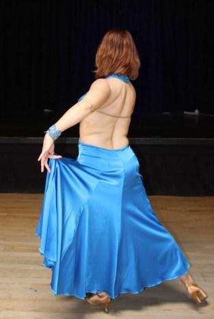 charmeuse ballroom dance dress with open back, Christina Musser