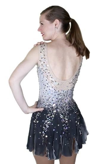 sequin skate dress with mesh back design