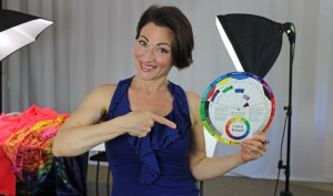 Teresa Sigmon uses a color wheel to help choose perfect colors for competition Dancesport, Country and skate dresses
