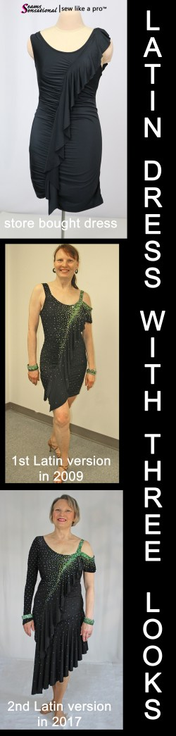 alt text - Three looks out of one Latin, skate dress. Check out the Sew Like A Pro™ video to watch the transformation.