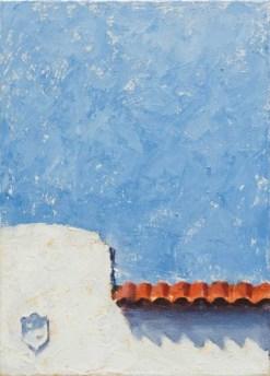 "Blue Smile, 12.5"" × 9"", oil on canvas"
