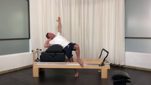 Propping for spine lateral flexion - Progressive Pilates Workshop