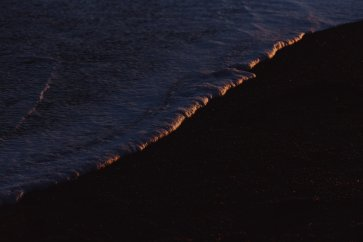 Sunset on the beach in Iceland