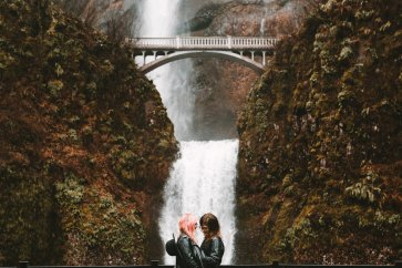 Multnomah Falls Gay Wedding in Portland