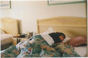 mike sleeping in (2003)