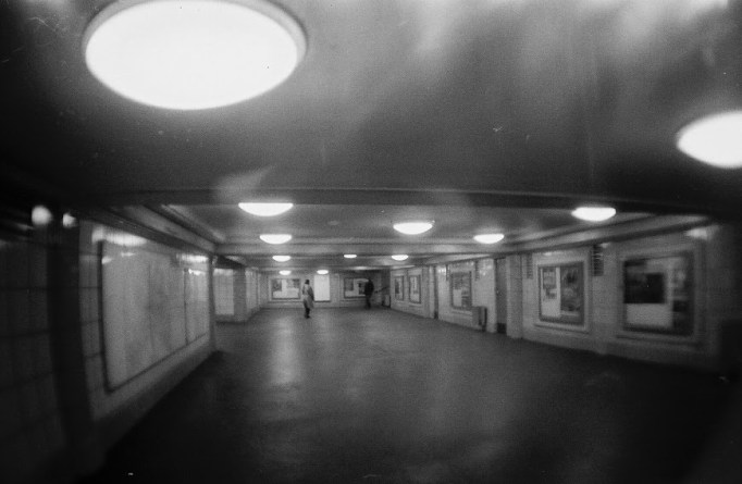 train station fogged