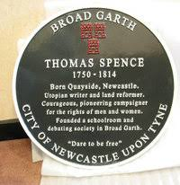 Thomas Spence plaque