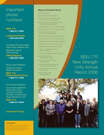 SEIU775 Annual Report (back cover)