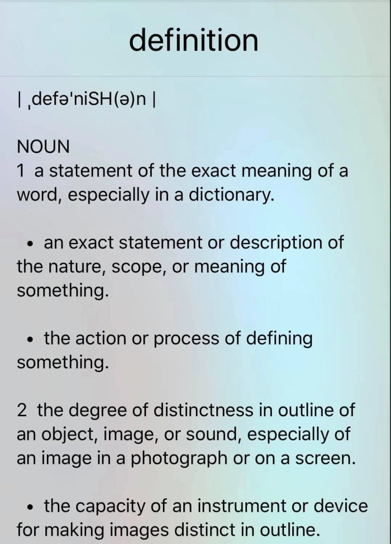 Read more about the article Dedicated Definitions.