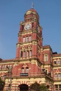 Colonial building in Yangon, Myanmar