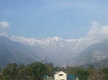 View from the house I lived in while in India