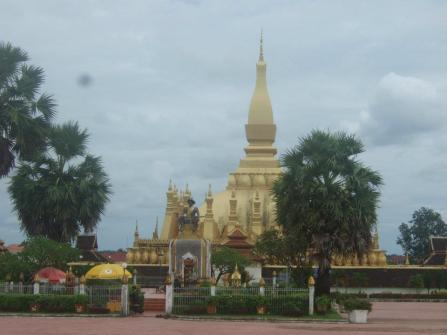 Temple in Vientiane, Laos