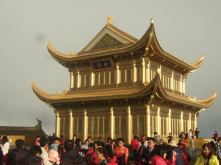 Pagoda at the top of Emei Mountain in Sichuan.