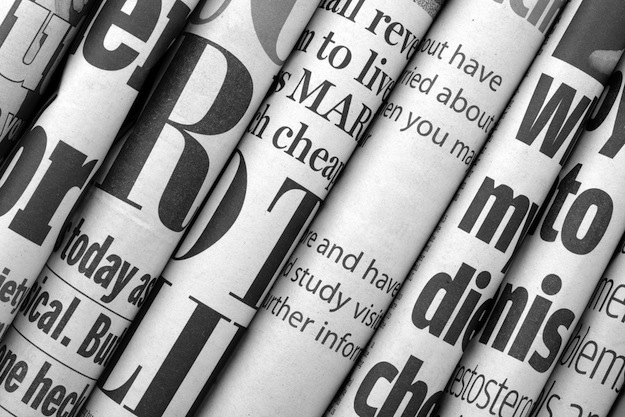 Extra! Extra! Read all about what isn't being read about online. (Photograph by Shutterstock.com)
