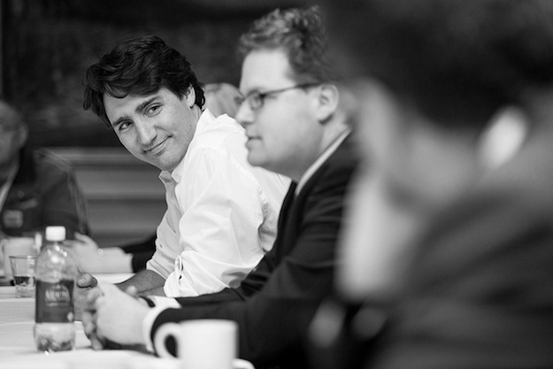 Liberal leader Justin Trudeau is looking toward giving Canadians more access to government information. (Photograph by MATT HEALY, Matt Healy Photography)