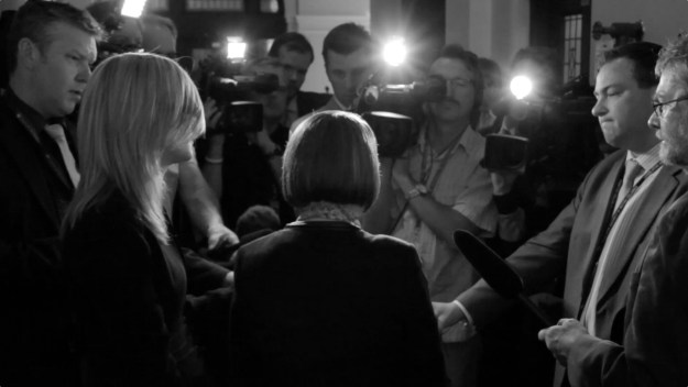 Guess what these reporters weren't asking about last week (Photograph by Damien Gillis)