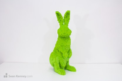 lego bunny rabbit sculpture pop art