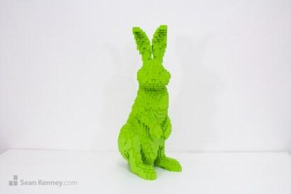 lego bunny rabbit sculpture pop art