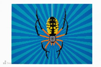 lego spider mural mosaic artwork