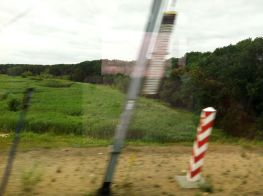 The German-Polish border from the east