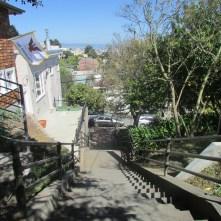 Looking down the Saturn Street steps