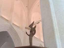 Angel giving God the finger in the Church of St Catherine