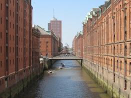 The Speicherstadt warehouse district