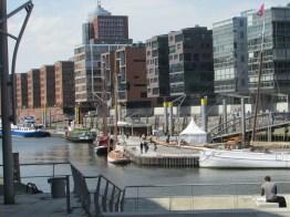Close up of Hafen City in Hamburg