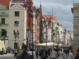 "The ""Wide Street' In Torun, Poland"