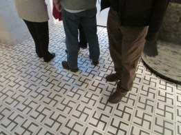 Stepping on swastikas