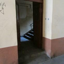 Inside a ghetto building