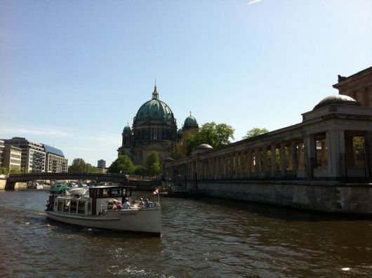 The Berlin Cathedral along the River Spree