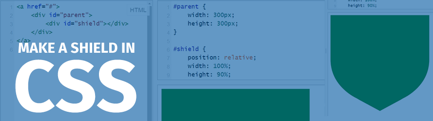 How to make a responsive shield shape in pure CSS