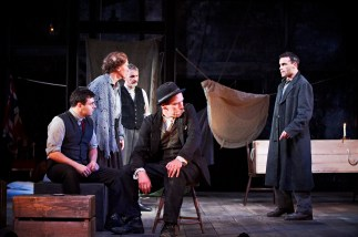 The Plough and the Stars 2012 Abbey Theatre, Laurence Kinlan, Gabrielle Reidy, Frankie McCafferty, Joe Hanley and Dara Devaney, Photo Credit Ros Kavanagh
