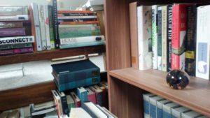 shelves, books